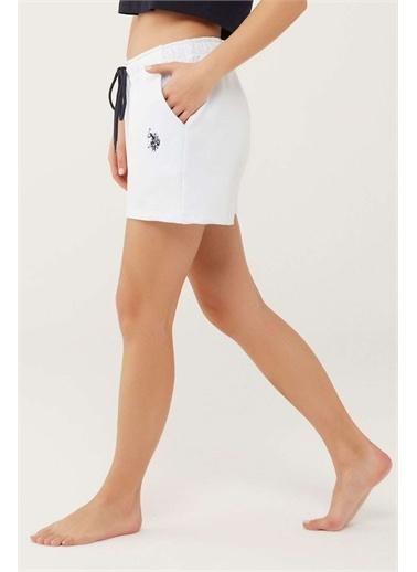 U.S. Polo Assn. U.S. Polo Assn. Kadın Beyaz Şort Beyaz